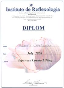 cosmolifting japoński/Japanese Cosmo Lifting Certificate